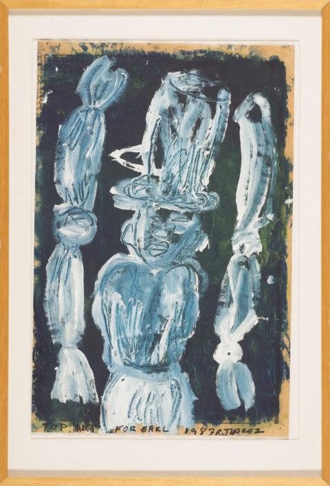 Roberto Juarez Top Hat, 1983 oil on newsprint Gift of Earl Millard
