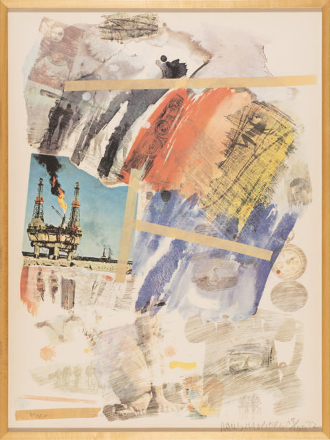 Robert Rauschenberg Untitled, 1972 Color off-set lithograph Gift of Ruth and Richard Shack