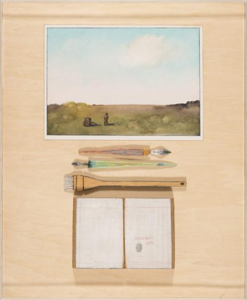 Saul Steinberg The Fingerprint Table, 1974 Mixed media Gift of Paula and Joel Friedland