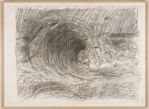 Pat Steir From the Sea, the Wave After Courbet, 1984 Mixed media on paper Gift of Joan and Roger Sonnabend