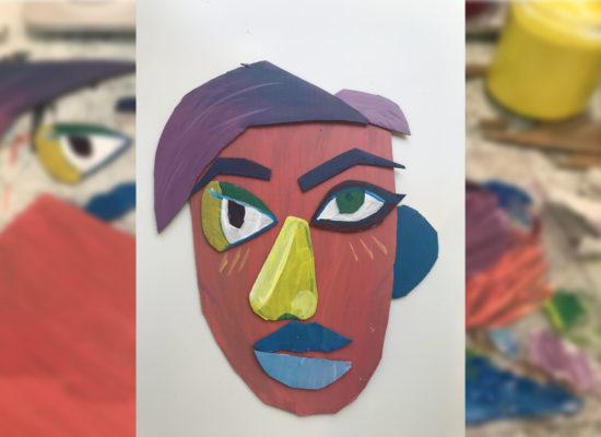 Art project | cubist faces
