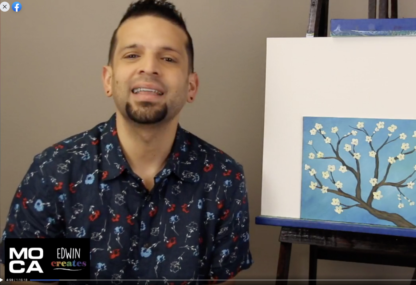 Virtual minimakers: let's paint almond blossoms! with edwin creates