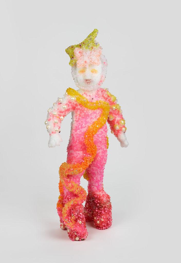 Raúl de Nieves Bethany, 2018 Plastic beads, fiberglass, glue 40h × 24w × 12d inches Courtesy of the artist and Fitzpatrick, Los Angeles / Paris