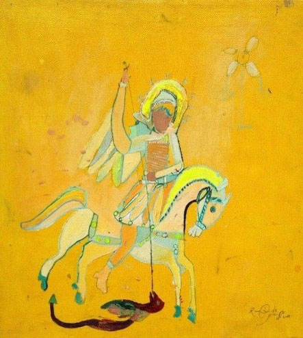 Raúl de Nieves St. George and the Dragon, 2003-2005 Mixed media Private Collection