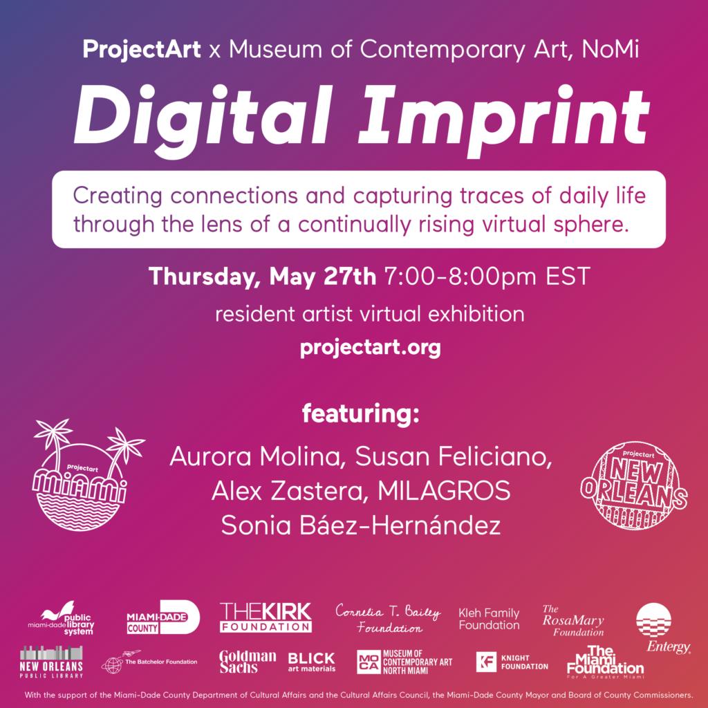 Projectart: digital imprint flyer